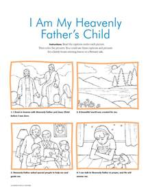 i am a child of god coloring page primary manual 1 heavenly s plan for us lesson