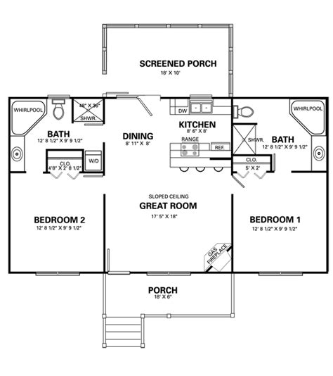 small 2 bedroom cabin plans 2 bedroom cabin with loft floor plans