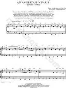 An American Theme Song George Gershwin Quot An American In Blues Theme Quot Sheet In Bb Major Print