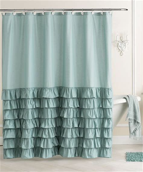 ruffle fabric shower curtain ella ruffle fabric shower curtain everything turquoise