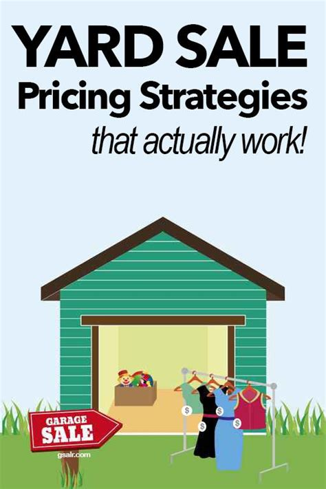 Garage Sale Pricing 1000 Ideas About Garage Sale Tips On Yard