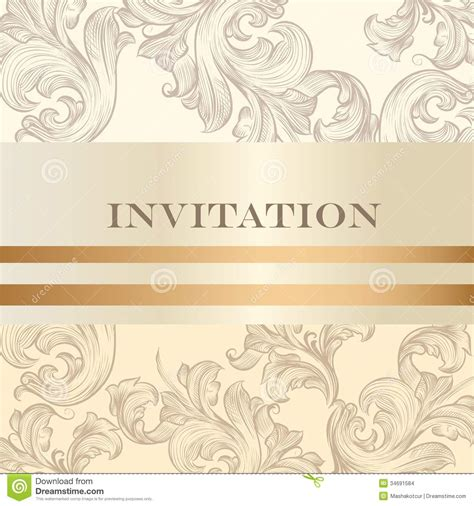 how to design an invitation card using coreldraw wedding invitation card for design stock vector