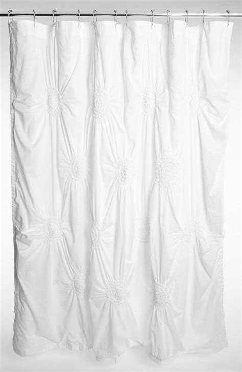 Lace Chandelier Nordstrom At Home Chloe Puckered White Shower Curtain