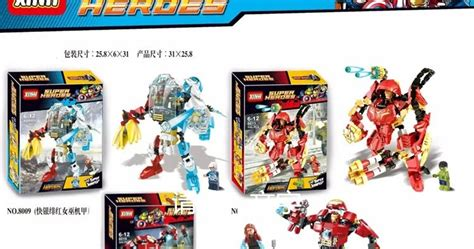 Brick Block Bootleg Pogo Xinh Dlp Decool Sy Tanpa Dus 65 downtheblocks xinh 8007 8009 8011 8019 marvel hulkbuster mechs preview