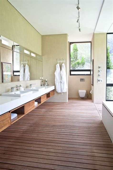 spa style bathroom vanity 15 exles of bathroom vanities that have open shelving contemporist