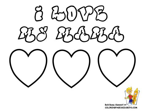 i love you mom coloring pages free large images