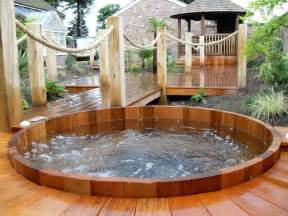 hot tubs 48 awesome garden hot tub designs digsdigs
