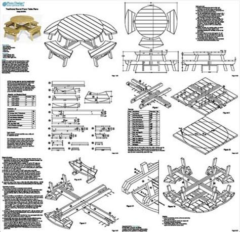 round picnic bench plans traditional round picnic table with benches out door