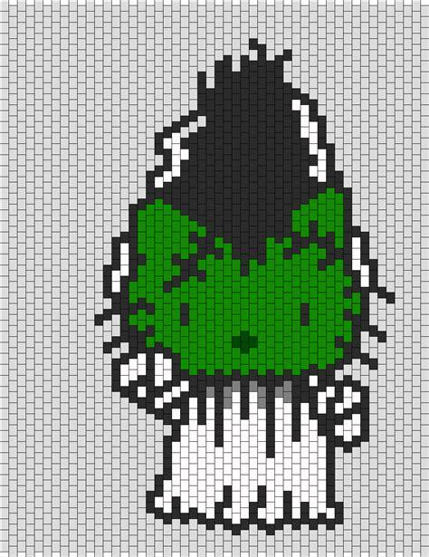 beaded hello pattern of frankenstein hello bead pattern peyote