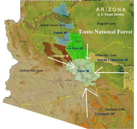 arizona national forest map national forests of arizona