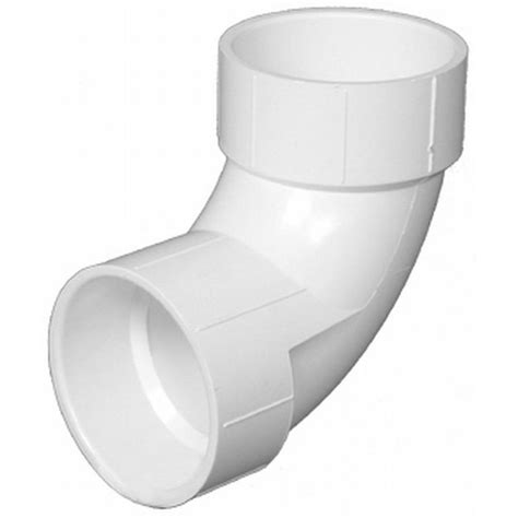 pipe 14 in pvc dwv 90 degree hub x hub