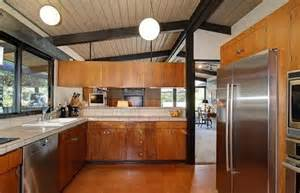 Mid Century Modern Kitchen Cabinets by Black Wooden Beam Ceiling For Amazing Kitchen Ideas Using