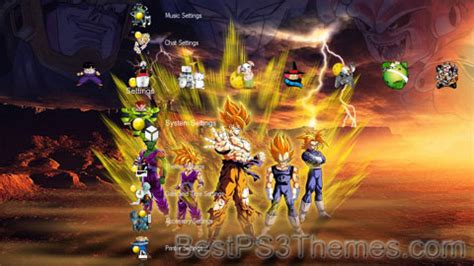 dragon ball wallpaper theme dragonball z best ps3 themes