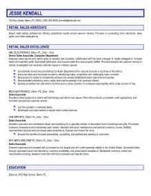 Child Development Associate Sle Resume by Exle Retail Sales Associate Resume Free Sle
