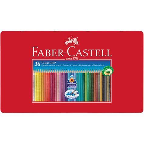 faber castell color pencils faber castell tin of 36 colour grip 2001 pencils