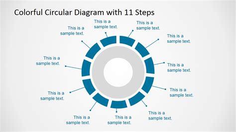 6 steps circular segmented diagram for powerpoint slidemodel 11 steps circular powerpoint diagram slidemodel
