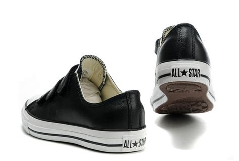 Promo Diskon Converse All Black Low converse all low top ox velcro black leather chucks 103838 65 00 discount