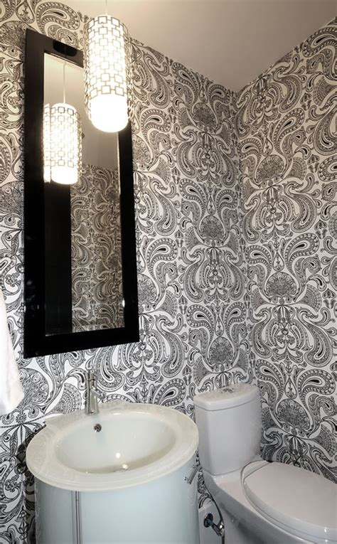 15 gorgeous bathroom wallpaper design ideas rilane in