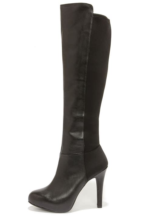 black high heel knee high boots black boots knee high boots high heel boots 179 00