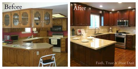 Cheap Kitchen Cabinets by Kitchen Remodeling Before And After Kitchen Remodel
