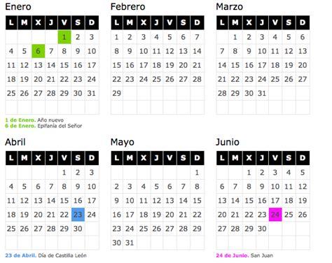 Calendario Escolar Castilla Y 2016 17 Calendario Laboral 2017 Castilla Y Le 243 N De Opcionis