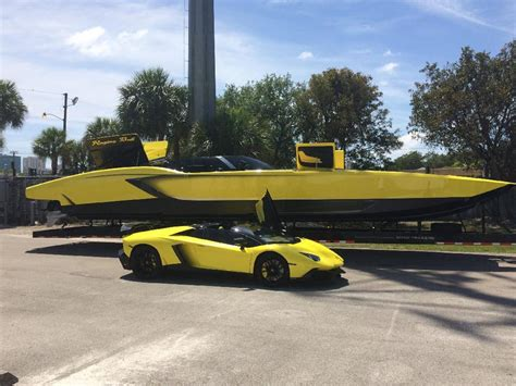 lamborghini boat horsepower awesome 1 3million aventador inspired speedboat
