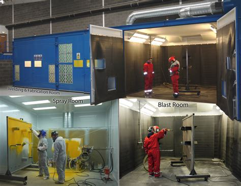 industrial spray painting courses self contained production rooms for production and