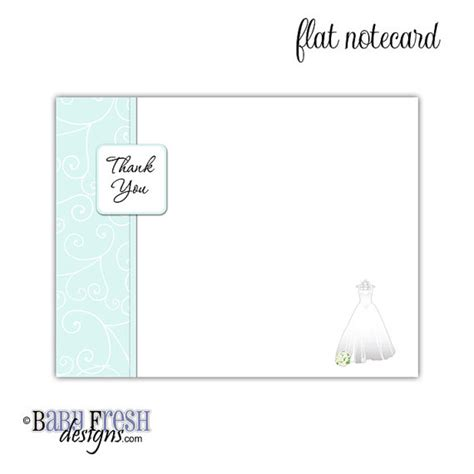 exle thank you letter bridal shower bridal shower thank you note cards design flat or