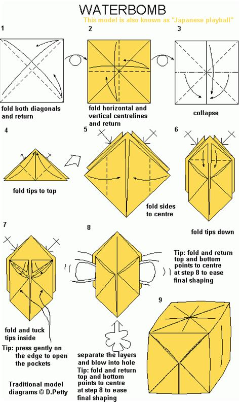 Water Balloon Base Origami - waterbomb po archives