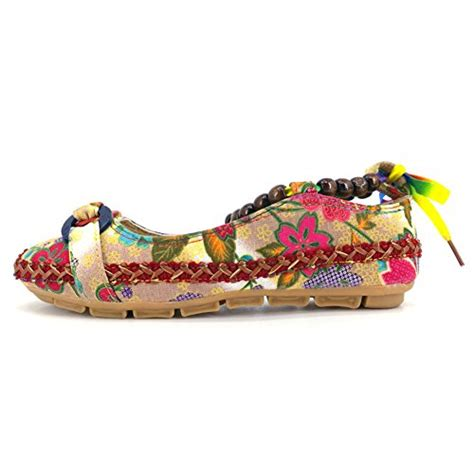 colorful flat shoes huanyoo comfortable ethnic beading flats toe