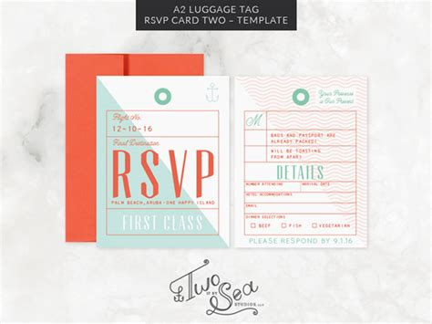 a2 card template illustrator a2 luggage tag rsvp card template invitation templates