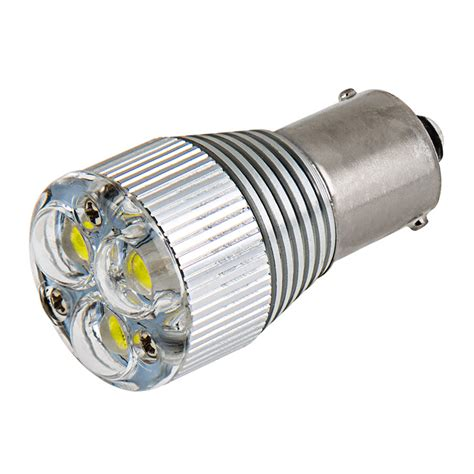 led len 0 3 watt 1156 led bulb w removable lens 3 high power led ba15s