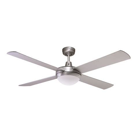 Genesis 52 Inch Ceiling Fan Brushed Aluminum With Light Aluminum Ceiling Fan