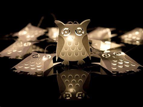 Solar Christmas Lights Owl Battery Fairy Lights Battery Operated