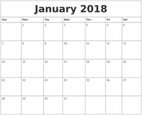 Calendar 2018 January Printable June 2018 Printable Calendar Pages