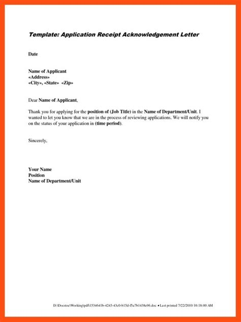 application covering letter template writing a cover letter application