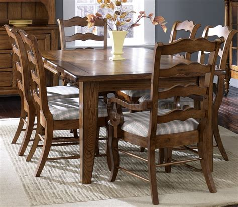 Rustic Formal Dining Table Rustic Oak Finish Formal Dining Table W Options