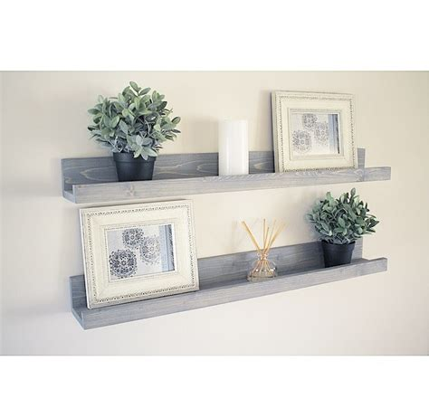Gallery Wall Shelf by Rustic Wooden Picture Ledge Shelf Gallery Wall Shelf Rustic