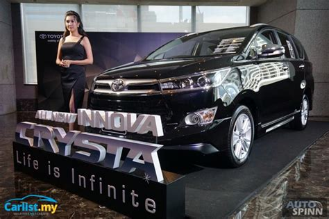 Bodykit All New Innova 2016 Crysta Thailand Style 2016 all new toyota innova crysta launched in thailand