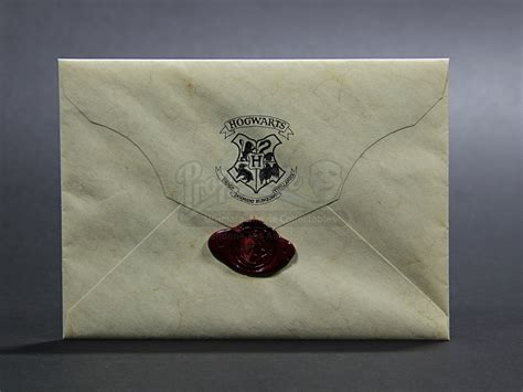 Harry Potter Acceptance Letter Envelope Harry Potter And The Philosopher S 2001 Hogwarts Acceptance Envelope With Wax Seal