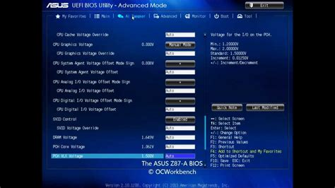Reset Bios Z87 | asus z87 a bios review details at ocworkbench youtube