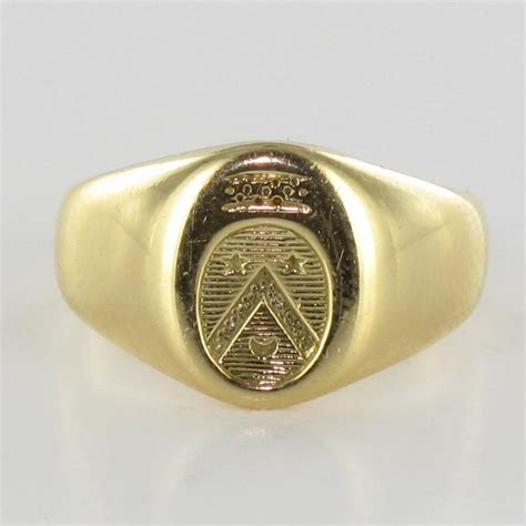 Chevaliere Armoirie by Chevali 232 Re Femme Or Blason Bague Or Occasion Bijouxbaume