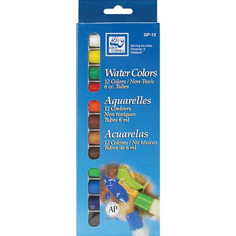 watercolor paint 6ml assorted colors 12 pkg walmart