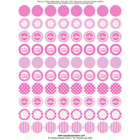 pink princess printable hershey s kiss stickers diy