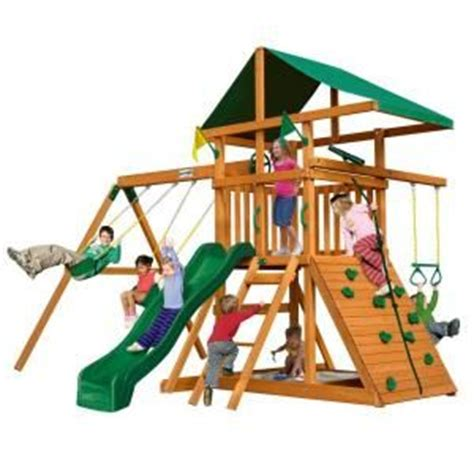 home depot swing sets for kids gorilla playsets outing iii cedar playset play sets