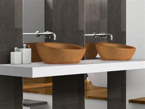 cork countertop countertop cork washbasin suber by ama design