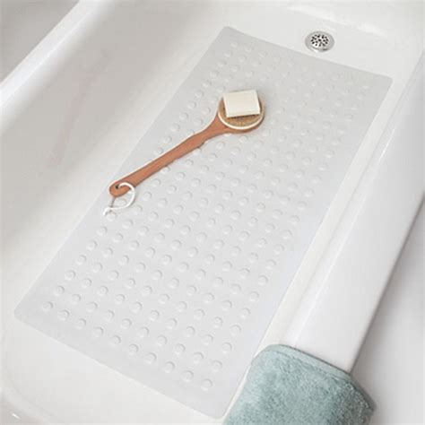 bed bath and beyond shower mat microban 174 large rubber safety tub mat bed bath beyond