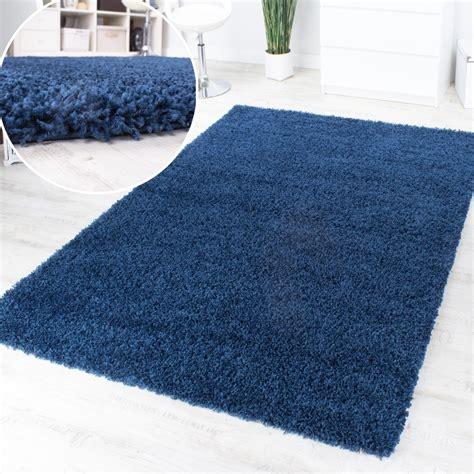 teppich einfarbig shaggy blau hochflor langflor teppich blue einfarbig top
