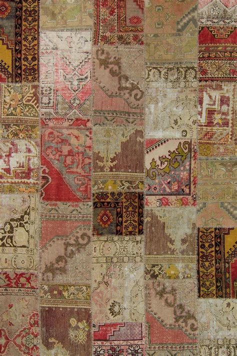 Patchwork Sydney - overdyed turkish patchwork rugs k0006596 2 740