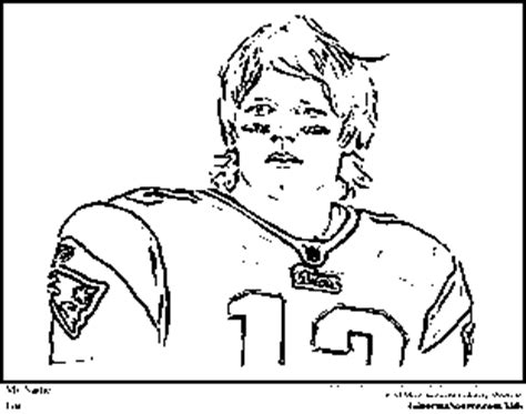 Tom Brady Coloring Pages New England Patriots Coloring Tom Brady Coloring